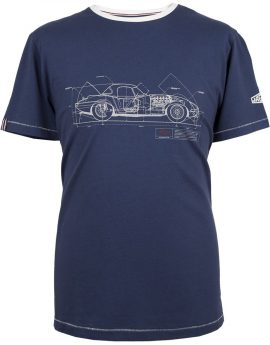 T-shirt Jaguar E-Type blauw