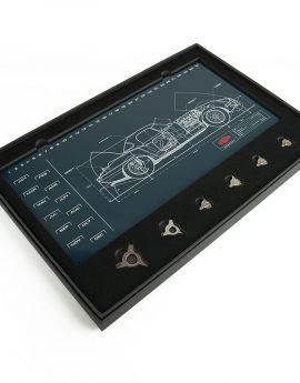 Magneetbord kalender Jaguar E-Type