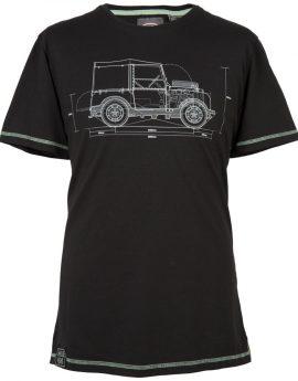 T-shirt Land Rover Heritage HUE zwart