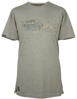 T-shirt heren Land Rover Heritage grijs