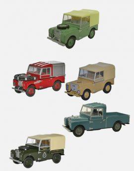 Land Rover Series 1 schaalmodellen 5-delige set