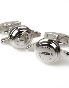 Manchetknopen Jaguar Spinner zilver